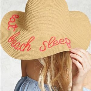 Beach Woven Embroidered Hat